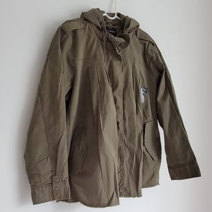 Lucky Brand Raw Hem Military Jacket 2X